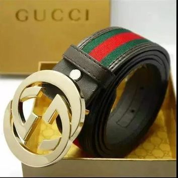 2018 GUCCI BRAND BELT MEN WOMEN'S WAISTBAND + BOX