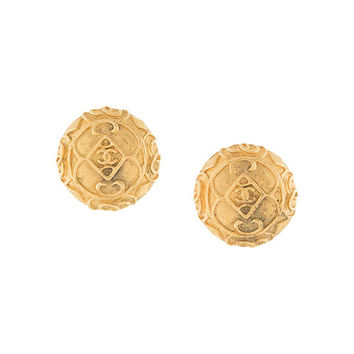 Chanel Vintage Round Design Earrings - Farfetch