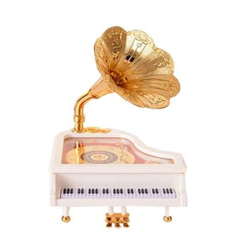 Special Music Box  Creative Gift Living Room Decoration Marriage Birthday Ivory