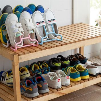 2PCs Fashion Shoes Rack Shoes Storage Creative Cabinet Shoe Rack Shoe Living Room Bedr