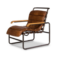 Jamey Leather Lounger