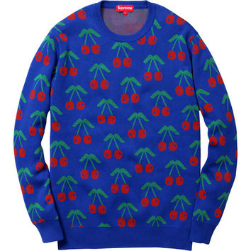 Supreme: Cherries Sweater - Royal