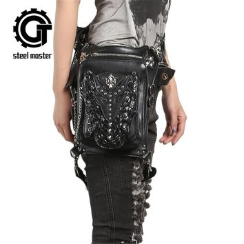 Steampunk Gothic Waist Bag Retro Rock Shoulder Bag