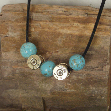 38 SPL Bullet Necklace Bullet Casing Jewelry by ShellsNStuff