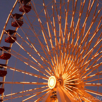 Navy Pier Ferris Wheel Print Of Original by VirtualityStudio