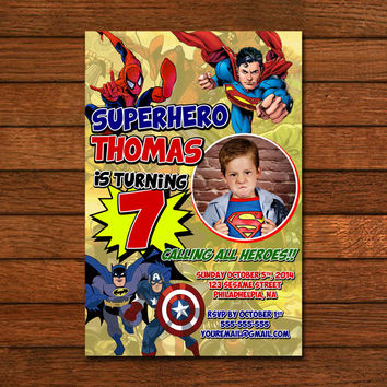 Superhero comic invited Invitation