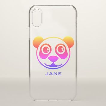 Rainbow Panda Personalized iPhone X Case