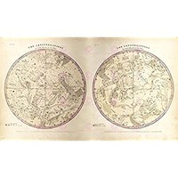 MAP SPACE ASTRONOMY BURRITT 1856 CONSTELLATIONS REPLICA POSTER PRINT PAM1206 by Large Posters