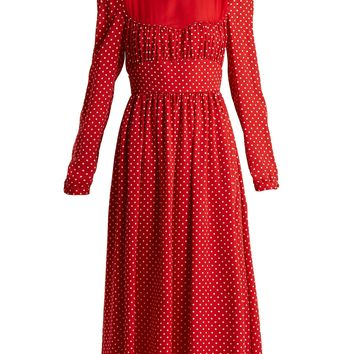 Polka-dot silk-georgette dress | Valentino | MATCHESFASHION.COM US