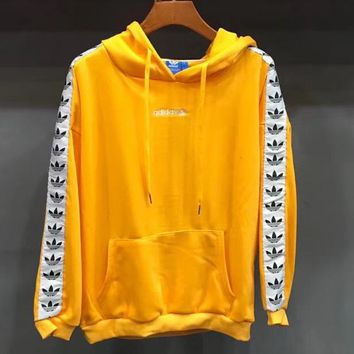 ADIDAS thin, full-sleeve, long-sleeved, hoodie, men's and women's casual tops