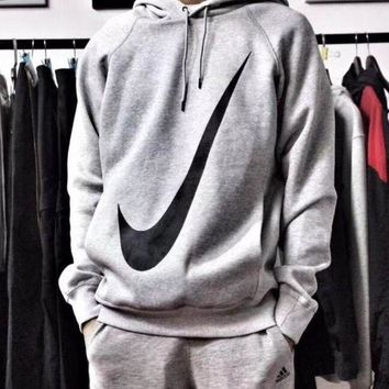 Nike Hooded Sweatshirt Pullover Long Sleeved Tops Sweater