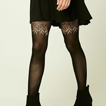 Ornate Pattern Tights