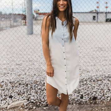 Bristol Button Down Ombre Dress