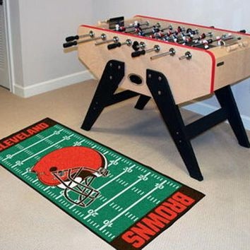 FANMATS Cleveland Browns Field Runner Mat Area Rug, Man Cave, Bar, Game Room