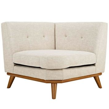 Engage Corner Sofa, Beige -Modway