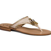 Jack Rogers Alana Sandal- Bone and Gold- FINAL SALE