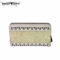 Montana West TR20-W003 Trinity Ranch Tooled Wallet