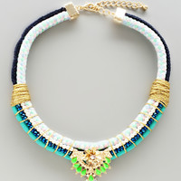 Hafiz Neon Statement Necklace