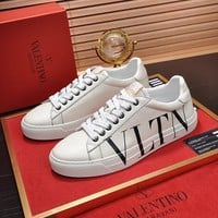 Valentino Men's Leather VLTN OPEN Sneakers Shoes