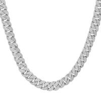 "Custom Iced Out 12mm men's Miami Cuban Links 18-30"" Chain"
