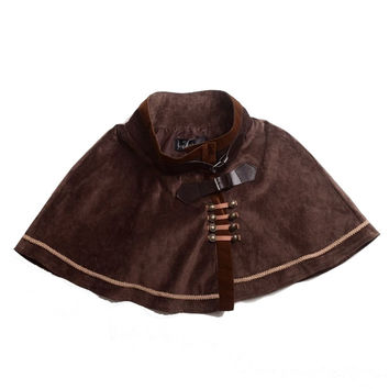 Women Victorian Steampunk Mini Lolita Cape Short Cloak Capelet Vintage Cosplay Costumes