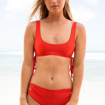 ACACIA Swimwear 2018 Hunter Top in Neon Lava
