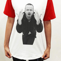 Jesse Pinkman Finger Breaking Bad Unisex Men Women Red Short Sleeve Baseball Shirt Tshirt