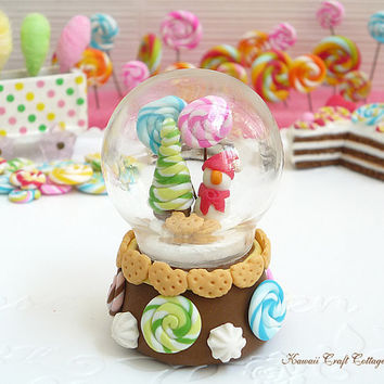 Snow, Globe, Glass, Dome, Candy, Gift, Display, Cookie, Biscuit, Swirl, Candies, Barbie, Blythe, Dal, 1:6, Kawaii, Cute, Pullip, BJD, yosd