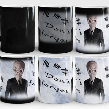 Don't forget, Color changing, The Silence coffee mug, Whovian
