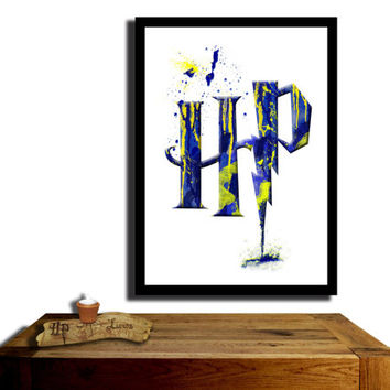 Harry Potter Poster, Ravenclaw House....Paint effect poster