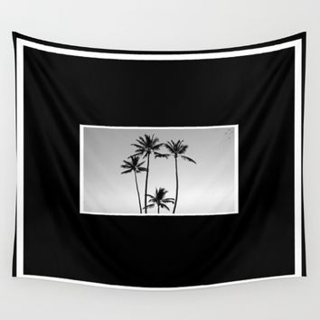 Palm Trees Kauai Wall Tapestry by Derek Delacroix