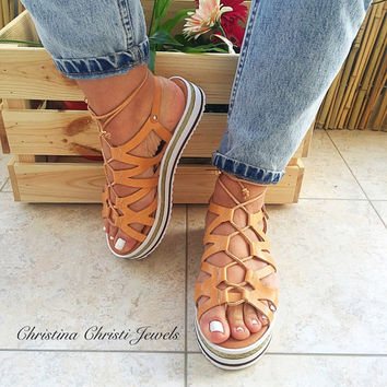 Greek Gladiator Sandals, Lace up Sandals, Greek Sandals, Leather Sandals, Anatomic Sandals, Tie Up Sandals, Spartan Sandals, Summer Sandals
