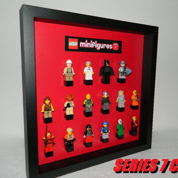 Case for lego minifigure series NUMBER 7 RED
