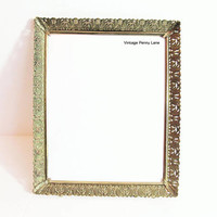 Vintage Frame / Fancy Brass Metal Frame / Holds 8 x 10 Photograph / Picture Frame