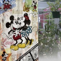 "New Mickey And Minnie Mouse Design Waterproof High Quality Shower Curtain60""x72"""
