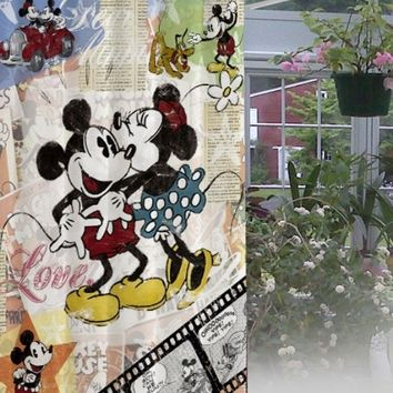 """New Mickey And Minnie Mouse Design Waterproof High Quality Shower Curtain60""""x72"""""""