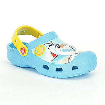 Crocs Boys' Frozen Olaf Clogs - Electric Blue