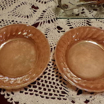 Anchor Hocking Fire King Peach Bowl Luster Shell Bowl, vintage bowls, gift for her This is for two bowls, a great gift idea. Gift for her