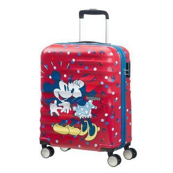 American Tourister 19 Inch Minnie Loves Mickey Carry-On Suitcase Luggage