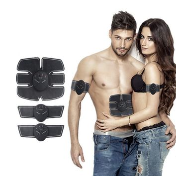 Ultimate Abs Stimulator, Abdominal Arm Leg Hip Muscle Trainer Toner, Fitness Electric Slimming Belt Ab Belly Sticker