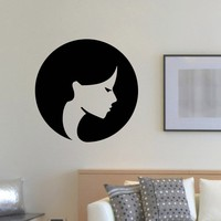 Wall Decal Vinyl Sticker Beauty Girl Hair Salon Spa Decor Sb480