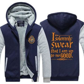 Anime Harry Potter Gryffindor Hoodie Thick Cardigan Thicker Sweaters Cosplay Winter Coats Jackets Hooded Zipper Men