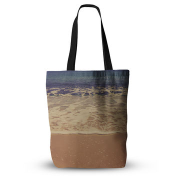"Violet Hudson ""Ombre Beach"" Brown Blue Everything Tote Bag"
