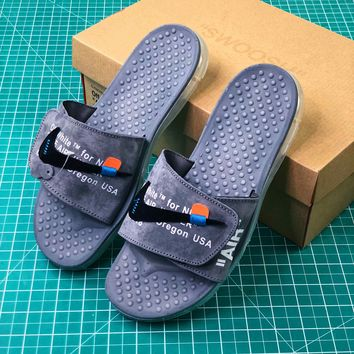 Off White X Nike Air Jumper Grey Sandals - Best Online Sale