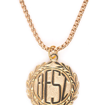 BREEZY EXCURSION ONLINE SHOP/STORE/SPENDING CENTER — Monogram Necklace