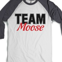 Team Moose-Unisex White/Asphalt T-Shirt