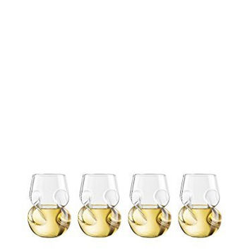 Final Touch Set of 4 Conundrum 9-Oz. White Wine Glasses