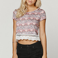 LunaChix Short Sleeve Crochet Top at PacSun.com