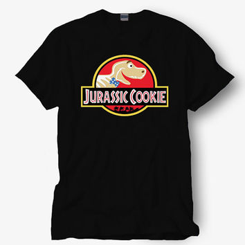 jurassic cookie shirt parody of jurassic park , Hot product on USA, Funny Shirt, Colour Black White Gray Blue Red