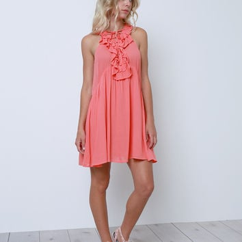 My Stage Sleeveless Dress - Coral
